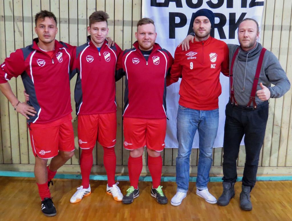 vlnr. Alexander Knappe; Maikel Krüger; Christoph Mellack; Marten Zittlau; Mario Donath